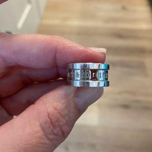 Tiffany & Co. Jewelry - Tiffany 1837 silver Ring size 4.5